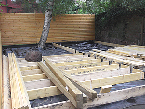 Decking supports going in 160917