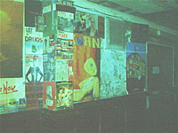 Picture of the back wall before being demolished