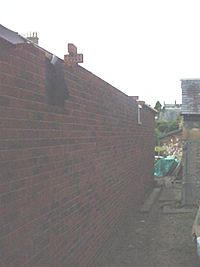 Picture showing the completed back wall from another angle