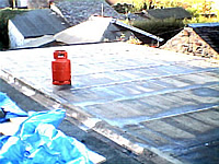 Picture showing the newly felted extension roof