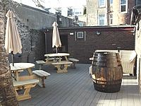 Image showing the new beer garden in all it's glory