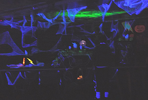 Picture of the DJ booth in UV